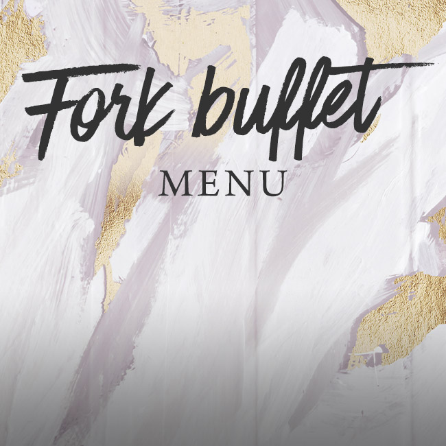 Fork buffet menu at The Cromwell Cottage