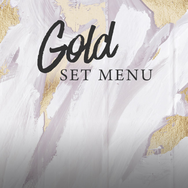 Gold set menu at The Cromwell Cottage