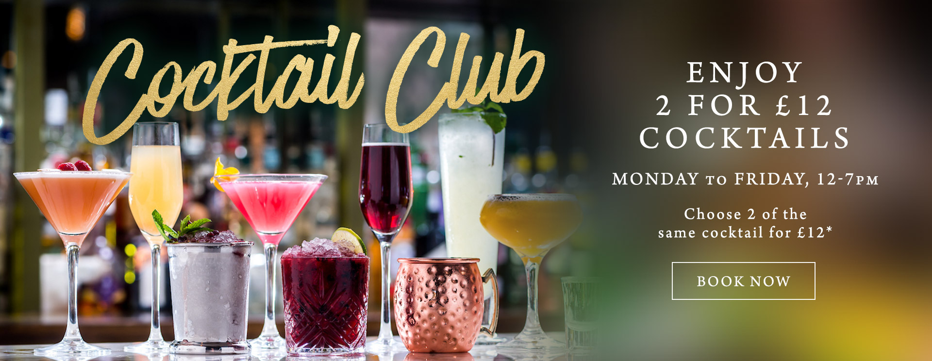 2 for £12 cocktails at The Cromwell Cottage
